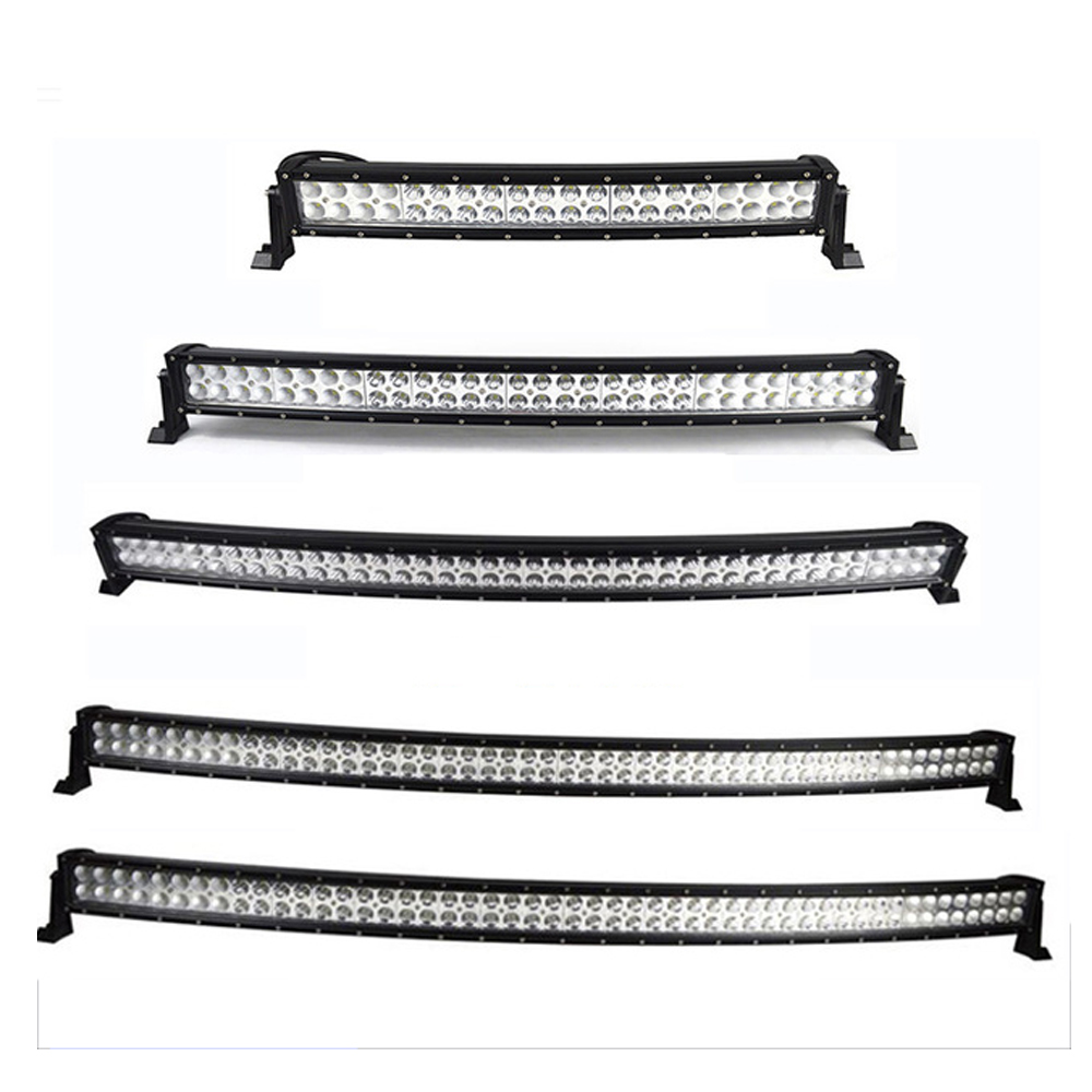 22 32 42 50 52 inch curved led light bar 120W 180W 240W 288W 300W COMBO Dual Row Driving Offroad Car Tractor Truck 4x4 SUV ATV