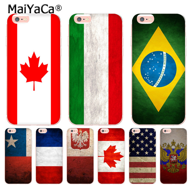 fafc2878fad MaiYaCa Country America Canada Brazil Russia Flag High Quality Phone Case  for Apple iPhone 8 7