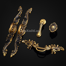 NEW 5Pair or 10PCS Brass Furniture Handle European Antique Style Drawer Wardrobe Cupboard Cabinet Kitchen Pulls Handles & Knobs