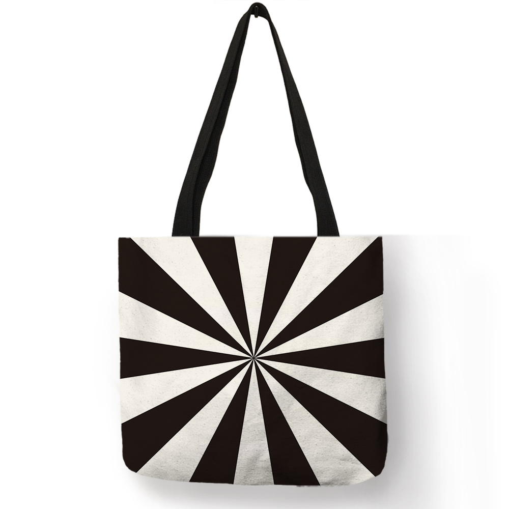 Vintage Black White Design Tote font b Bag b font Paisley font b Cross b font