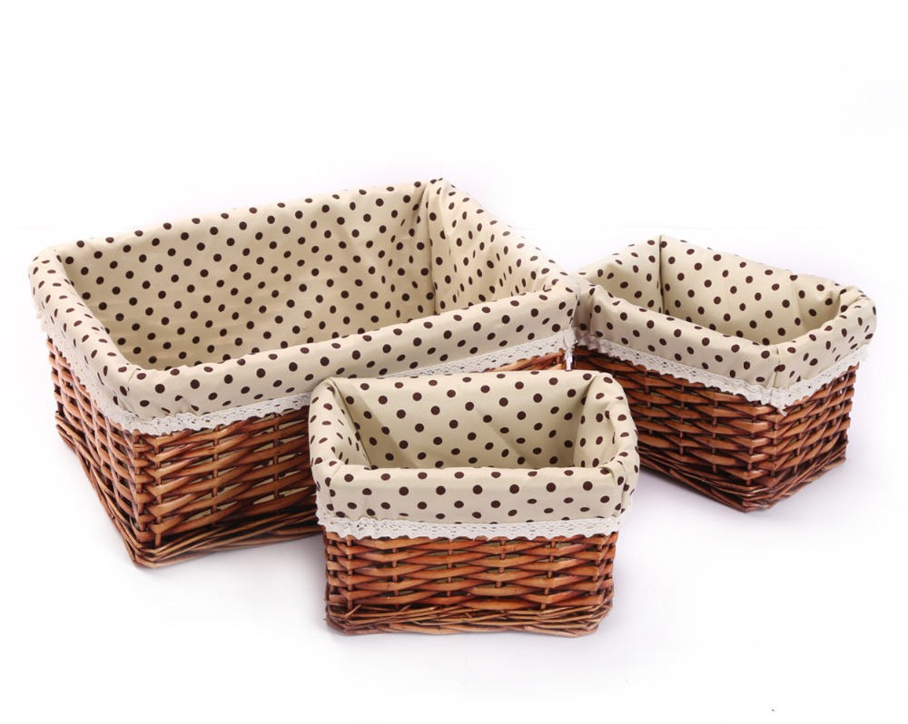 Exceptionnel Kingwillow,Woven Wicker Storage Baskets U0026 Bins Rectangular Containers  Drawers Organizer Box In Storage Baskets From Home U0026 Garden On  Aliexpress.com ...