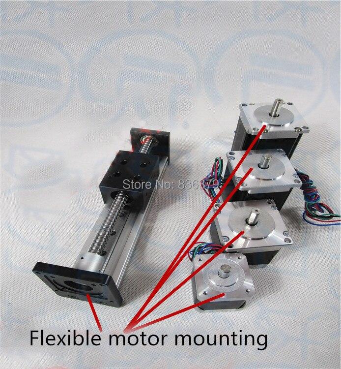 High Precision SGX Ballscrew 1204 100mm Travel Linear Guide + 57 Nema 23 Stepper Motor CNC Stage Linear Motion Moulde Linear