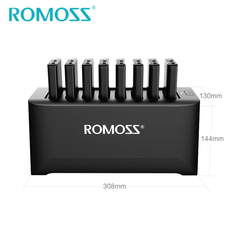 Image 5 - New ROMOSS Powerful Charger Station for Family and Business 8PCS 10000mAh Power Bank + 8PCS 2 in 1 Charging Cables + Ship by UPS-in Power Bank from Cellphones & Telecommunications