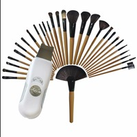 New Style Beauty Skin Deep Cleaner Smoothing Wrinkle Melanin Spot Remove+32 Comestic Tools Set Wood Material Color Make up Brush