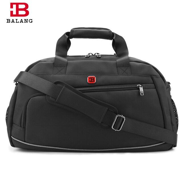 Balang marca unisex muchachos de la manera de gran capacidad de bolsa de hombro de alta calidad bolsa de mensajero a prueba de agua bolsas de viaje para hombres mujeres