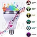RAYWAY LED RGB Bulb Wireless Bluetooth Control Mini Smart LED Bulb Music Audio Speaker E27 LED RGB Lamp Lighting With APP
