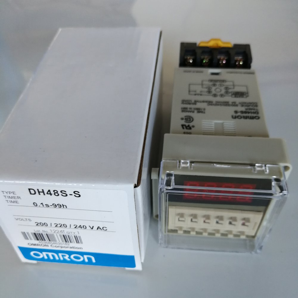 Time Relay Omron Dh48s S Digital Timer Delay 01s 99h Hours Drive Wiring Diagram Ac 220v With Socket Base Included In Relays From Home Improvement On