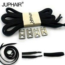 лучшая цена JUP 1-50 Pair Lock Laces Elastic No Tie Shoelaces Black Adult Kids Sneakers Metal Buckle Shoelaces Sport Athletic Laces Strings