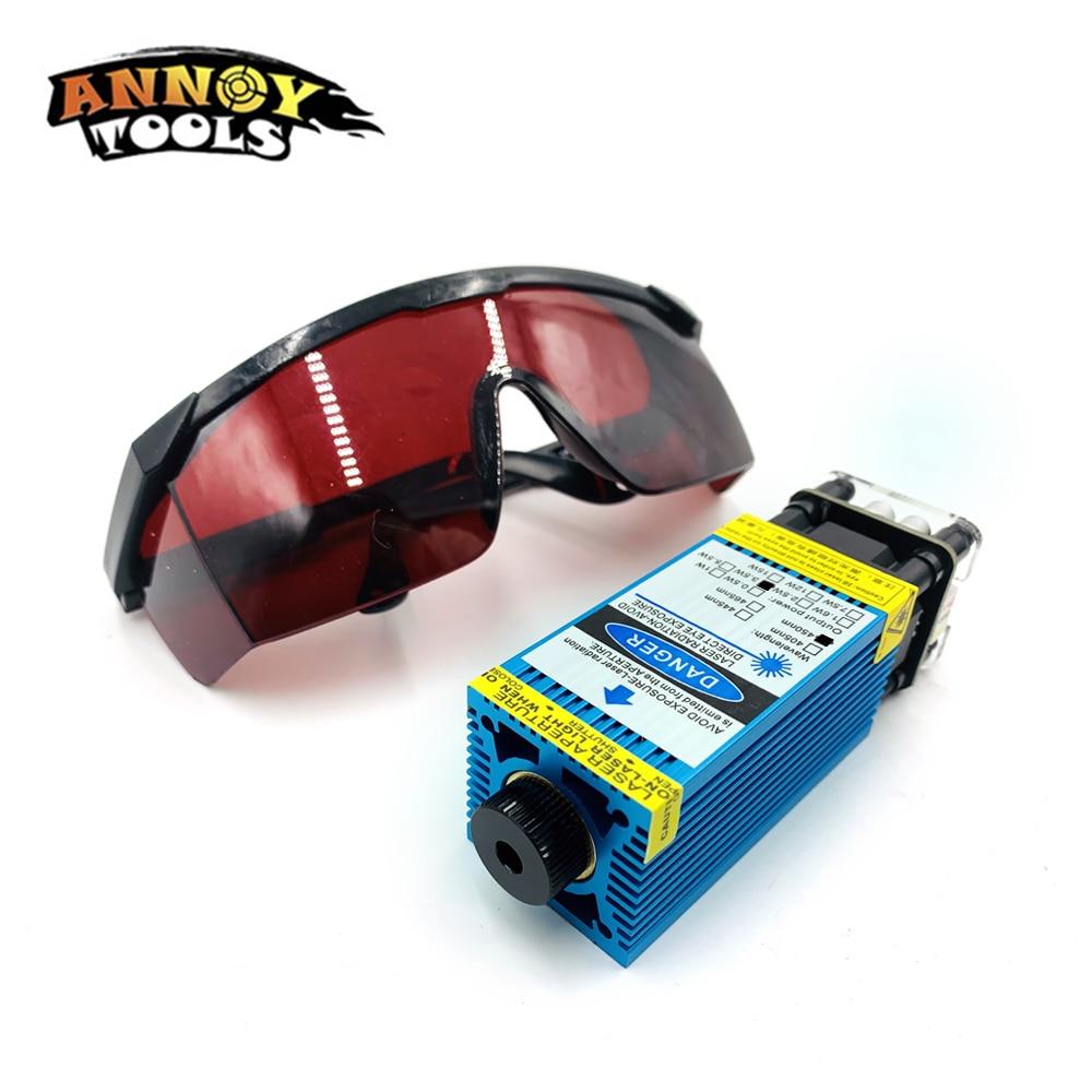 3500mw 5500mw 450nm Focusable Blue3.5W  5.5W Laser Module Laser Engraver Part DIY Laser Head With PWM