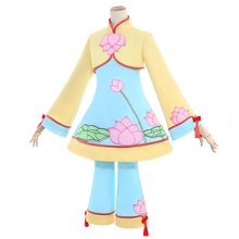 New Cardcaptor Sakura Kinomoto Cosplay Costume Chinese Style Embroidery Lotus Dress Halloween Adult Costumes for Women