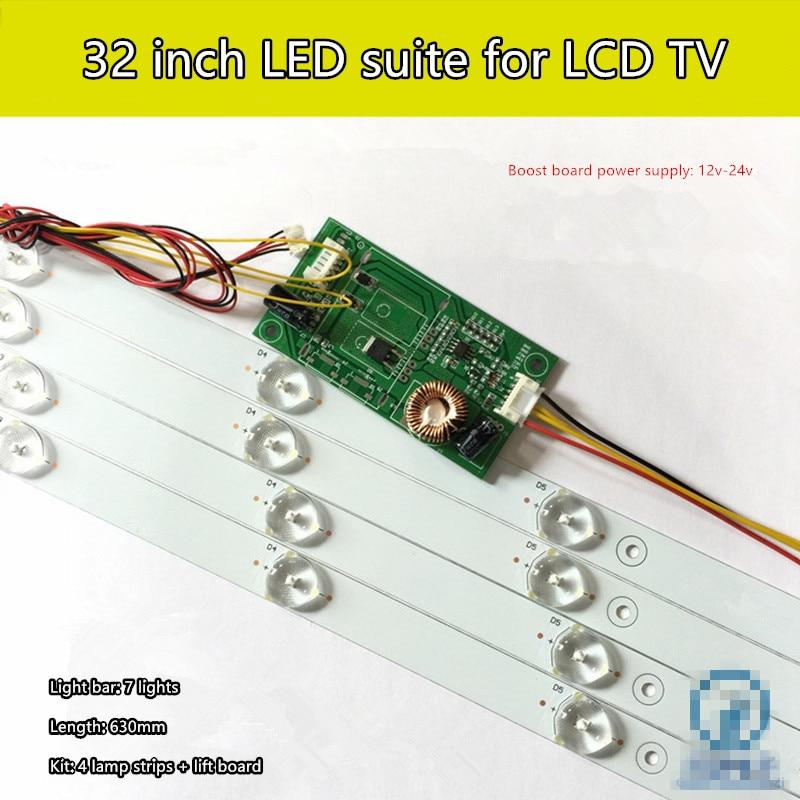 32 inch LCD TV LCD backlight tube conversion kit 32-inch general-purpose LED backlight strip 7 light kit 530mm led backlight strip for proline bravis 28c2000b 28 inch tv l2830hd svj280a01 rev3 5led 130402 m280x13 e1 h