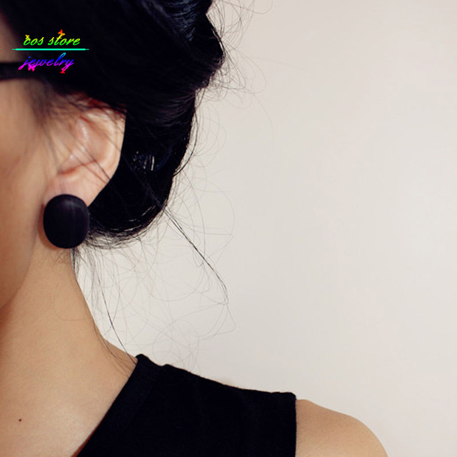 French Style Geometric Stud Wooden Earrings For Women