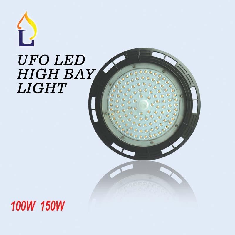 2pcs / tétel UL / DLC LED-es UFO-lámpatest 100W 150W Ipari lámpa AC110-277V ip65 5 év garancia ufo mennyezeti lámpa