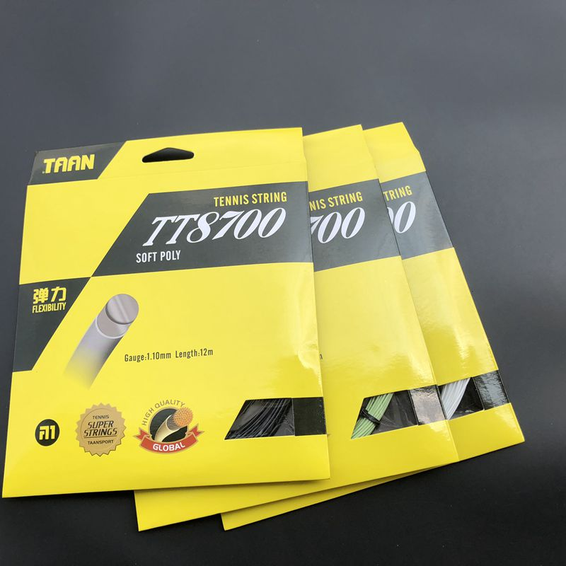1pc TAAN TT8700 tennis string Flexibility tennis racquet string soft poly string rackets string 1.1mm mixed print dip hem top