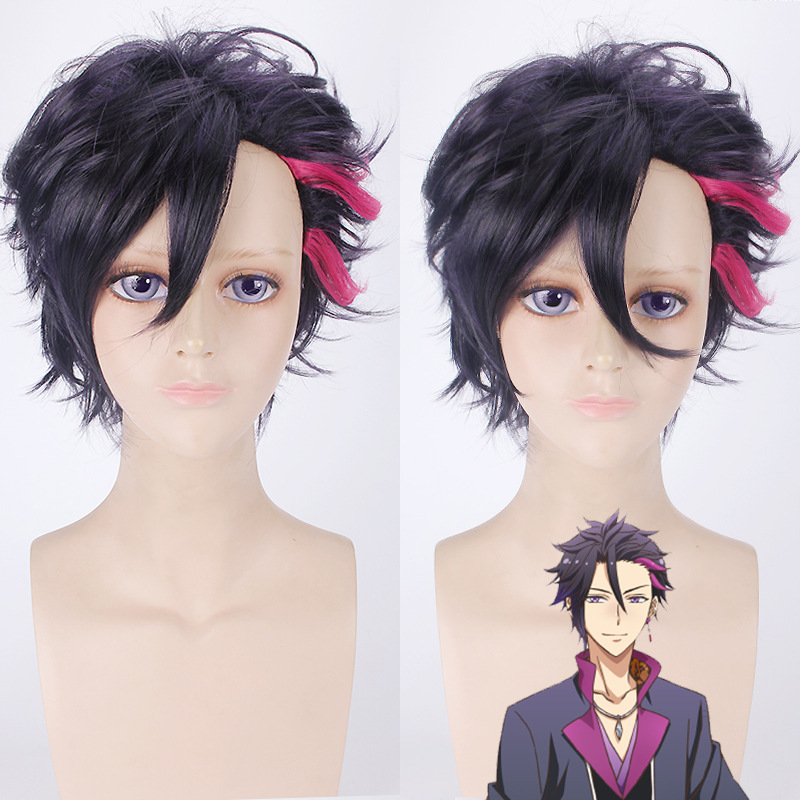 2019 Hot Jp Anime Six Gravity Mutsuki Hajime Cosplay Wig 40 Cm Long Straight Pink Synthetic Hair For Adult Role Play