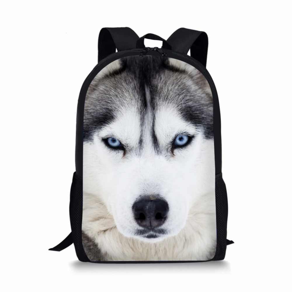 44821048f4d4 FORUDESIGNS 16 inch Popular Wolf Backpack Animal Printing Backpack ...