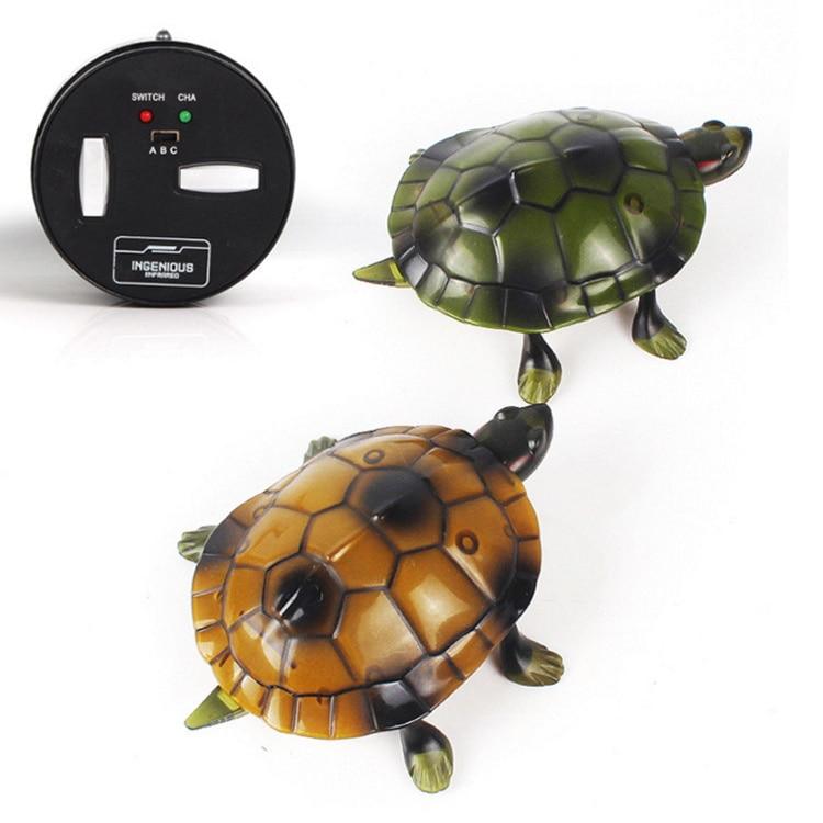Simulation electronic pet RC sound & light Tortoise robot model prank trick toy remote control smart animal kids child gift