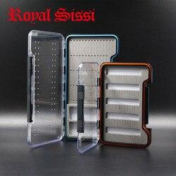 Royal sissi 2 pudełka zestaw wysokiej wytrzymałości wodoodporny fly fishing pudełko na przynęty przenośne pudełka do przechowywania ryb magnetyczne pudełko z przegródkami