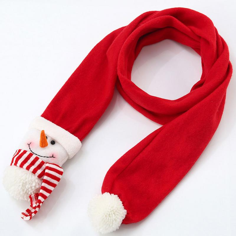 1.5m Lady Winter Fashion Novelty Soft Warmer Christmas Scarves Santa Snowman Reindeer Scarf Costume Ornament Christmas Gift Dec