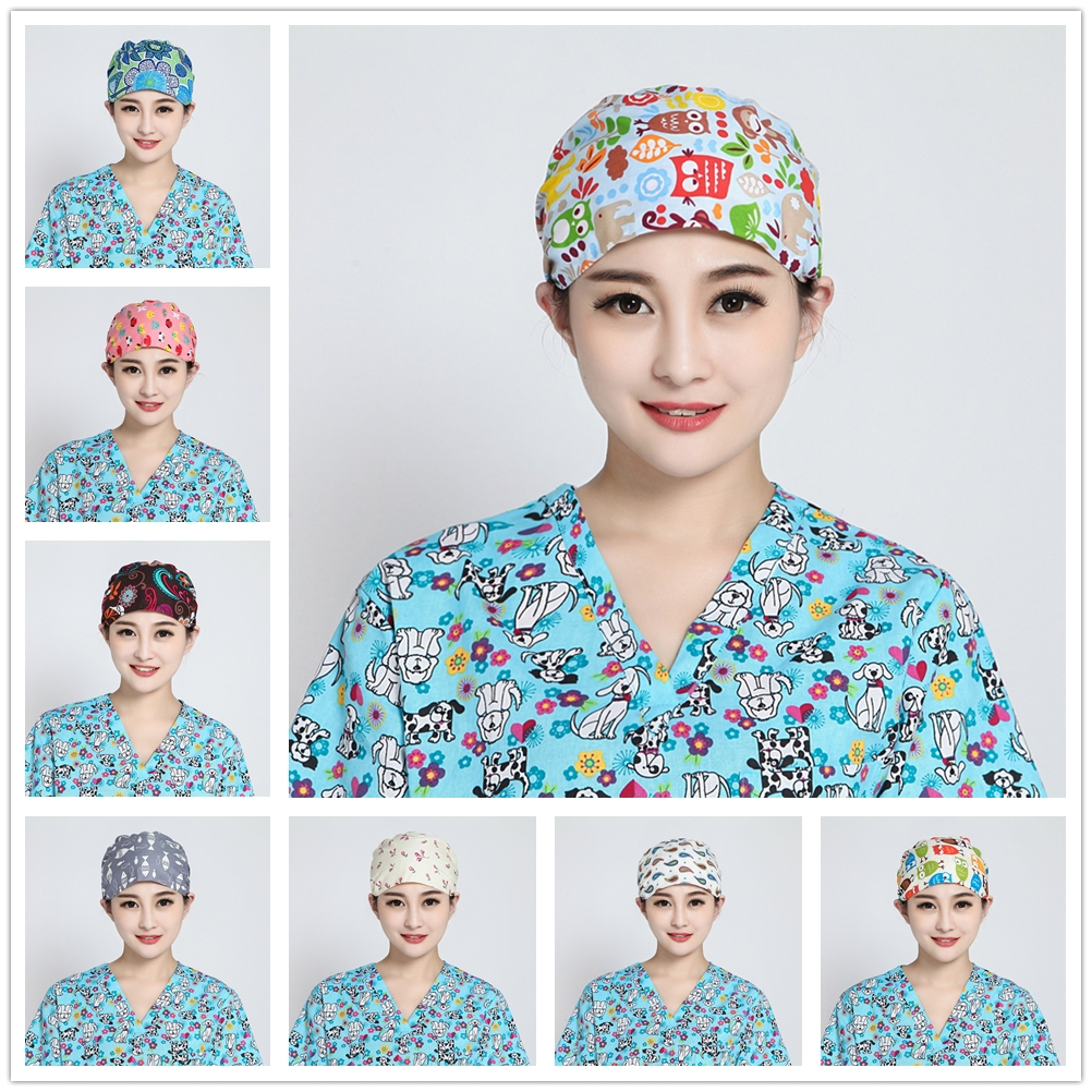 2018 Doctor Surgical Scrub Cap For Women Adjustable Medical Caps Hospital Scrub Lab Clinic Dental Operation Hat Doctor Nurse Cap