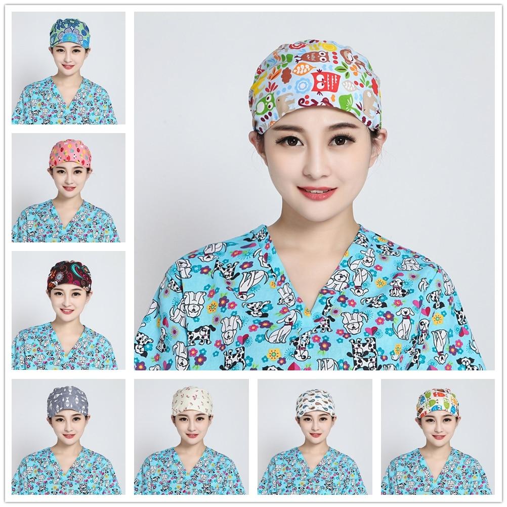 2018 Doctor Surgical Scrub Cap For Women Adjustable Medical Caps Hospital Scrub Lab Clinic Dental Operation Hat Doctor Nurse Cap