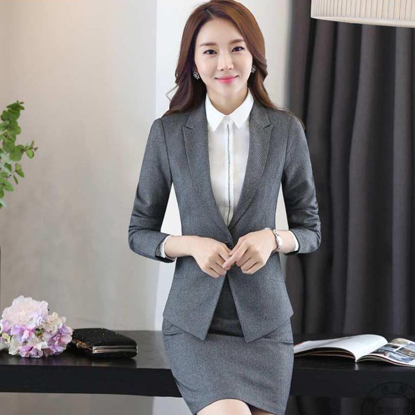 e2173fd9d 3pc imported clothing tutu jupe femme pecho long sleeve blazer office dress  skirts suits women formal clothes business brand 117-in Pant Suits from  Women's ...