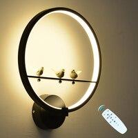36 w conduziu a lâmpada de parede pode ser escurecido 2.4g rf controle remoto moderno quarto sala de estar luz de parede decorativa lâmpada de iluminação interior luminárias|Luminárias de parede| |  -