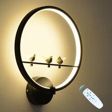 36W led duvar Lambası Kısılabilir 2.4G RF Uzaktan Kumanda Modern Yatak Odası Oturma odası Duvar Lambası Dekoratif Lamba iç mekan aydınlatması fikstür