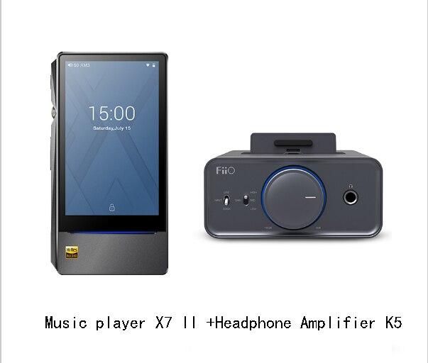Bundle Vendita di FiiO lettore Musicale Android-based X7 II con equilibrio am3a con Amplificatore Per Cuffie K5