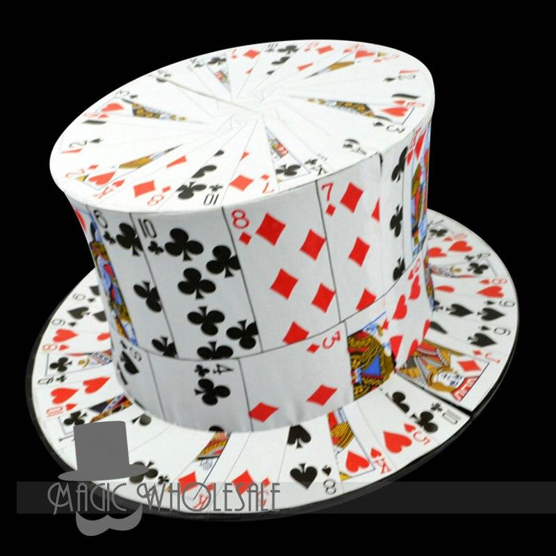 Carte à chapeau haut-de-forme livraison gratuite étape tours de magie jouets accessoires vente en gros et au détail Email explication vidéo