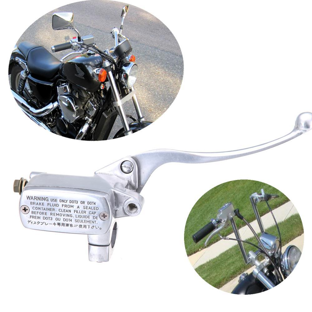 Universal Motorcycle 1 Polishing Front Brake Master Cylinder For Honda Steed 400 shadow VT600 VT750 кронштейн rolsen rwm 100 черный