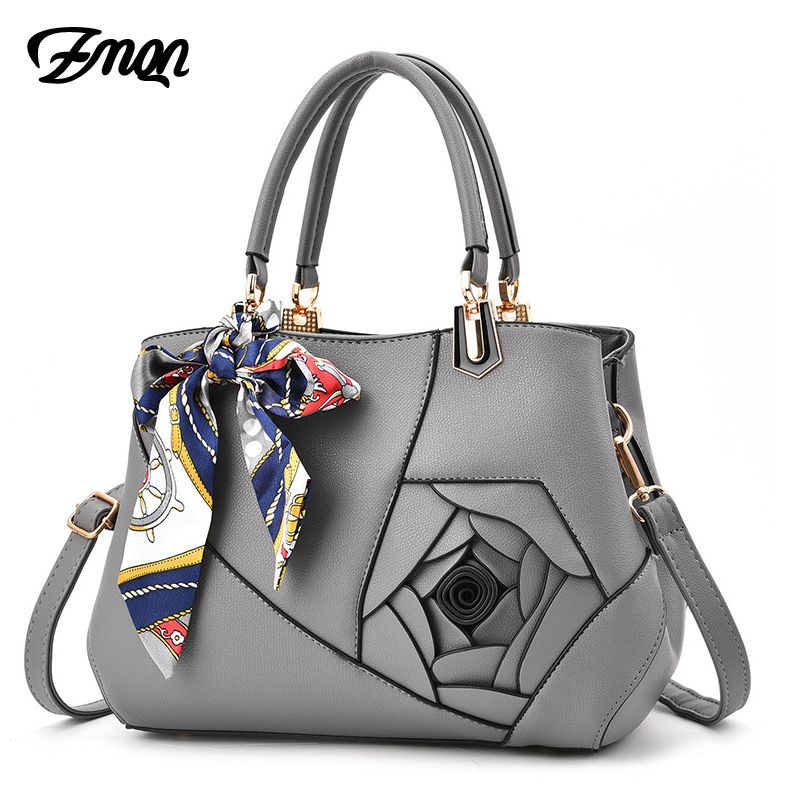 ZMQN Bags Handbags Women Famous Brands Scarves Shoulder Bag For Women High Quality PU Leather Hand Bag Solid Flowers Outlet A902 zmqn crossbody bags for women designer handbags women famous brands pu leather high quality shoulder bag vintage luxury kabelka