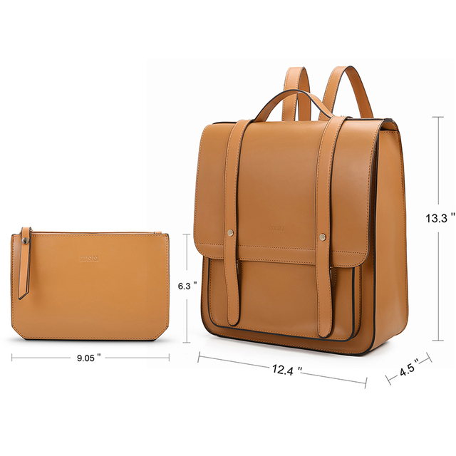 PU Leather Backpack for Women – Brown