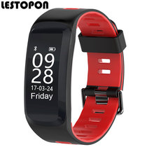 LESTOPON 2017 Waterproof Smart Band Swimming Wristband With Pedometer Heart Rate Fitness Tracker Bracelet For iphone 8 Android