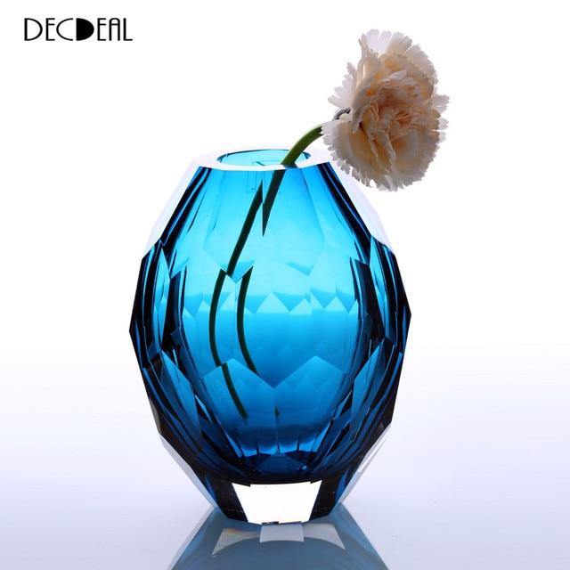 Vase Hand Polishing Home Art Decoration Vase For Room Decals Glass