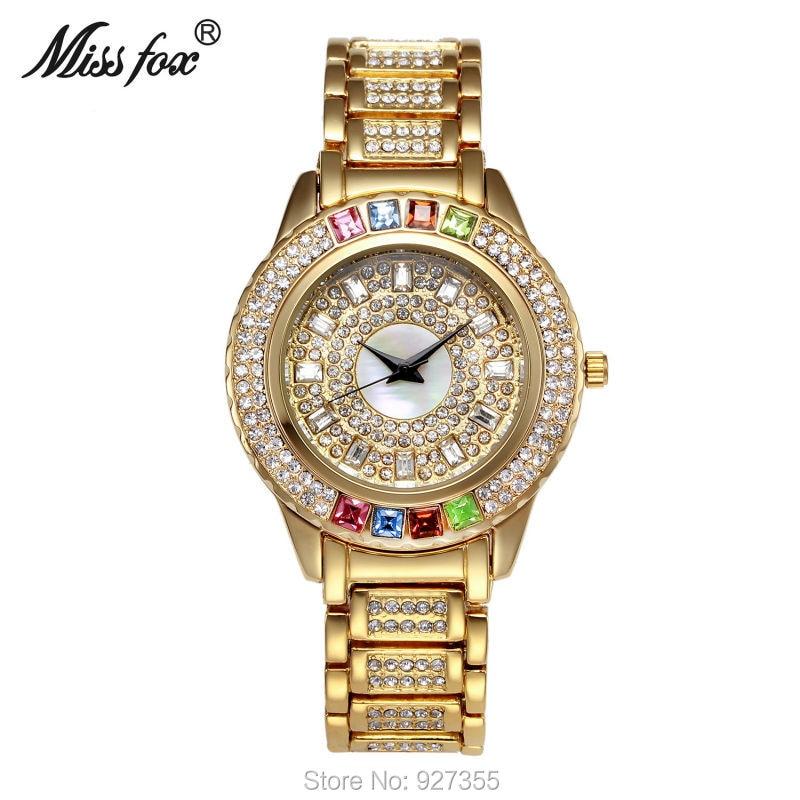 381a6e6f09f ... Se Vestem de Relógio de Alta Qualidade Strass Completo Mulheres Relógio  Relógio De Quartzo De Cristal Senhora Vestido relógios de Pulso Venda quente