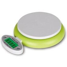 Nueva práctica verde 5 kg/1g escalas fruta inteligente pantalla lcd peso balanza de cocina digital electronic herramienta