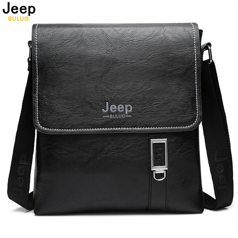 JEEP Brand Men Briefcase Bags Large New Business High Quality Leather Man Shoulder Crossbody Bag Black Brown Male Bag Hobos 609 qiao bao man bag 2017 new famous brand high quality fashion men top leather crossbody bag male messeng bags for man