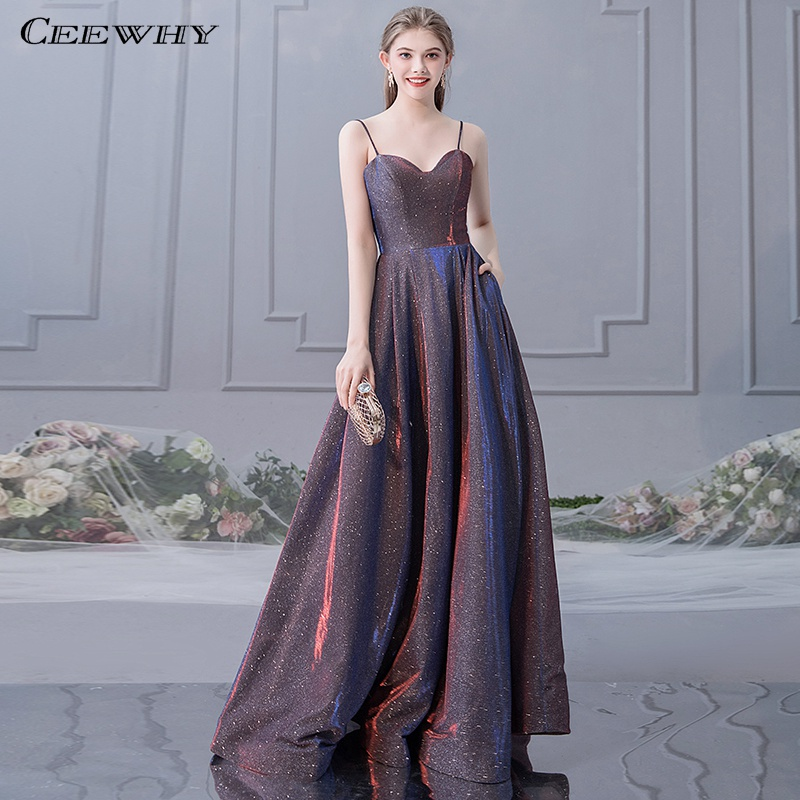 CEEWHY Spaghetti Strap Sexy   Evening     Dress   Plus Size Long   Evening     Dresses   for Women Formal   Dress   2019 Prom Gown Vestidos Largos