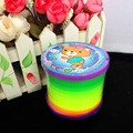 3 PCS Interesting Slinky Rainbow Springs Bouncey Fun Toy Kid Children Toy Funny OZUS