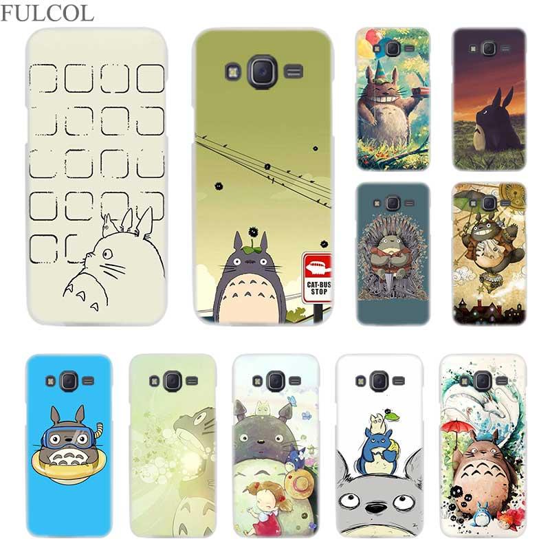 100% De Qualité Fulcol Anime Totoro Ghibli Fougueux Rigide Transparente étui Pour Samsung Galaxy J3 J4 J6 J7 J8 2018 2015 2016 2017 L'ue Premier Max