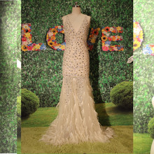 Latest Designs Crystal Beads Evening Gown China Online Store A-0240 Fashionable Mermaid Long Dresses Robe De Soiree