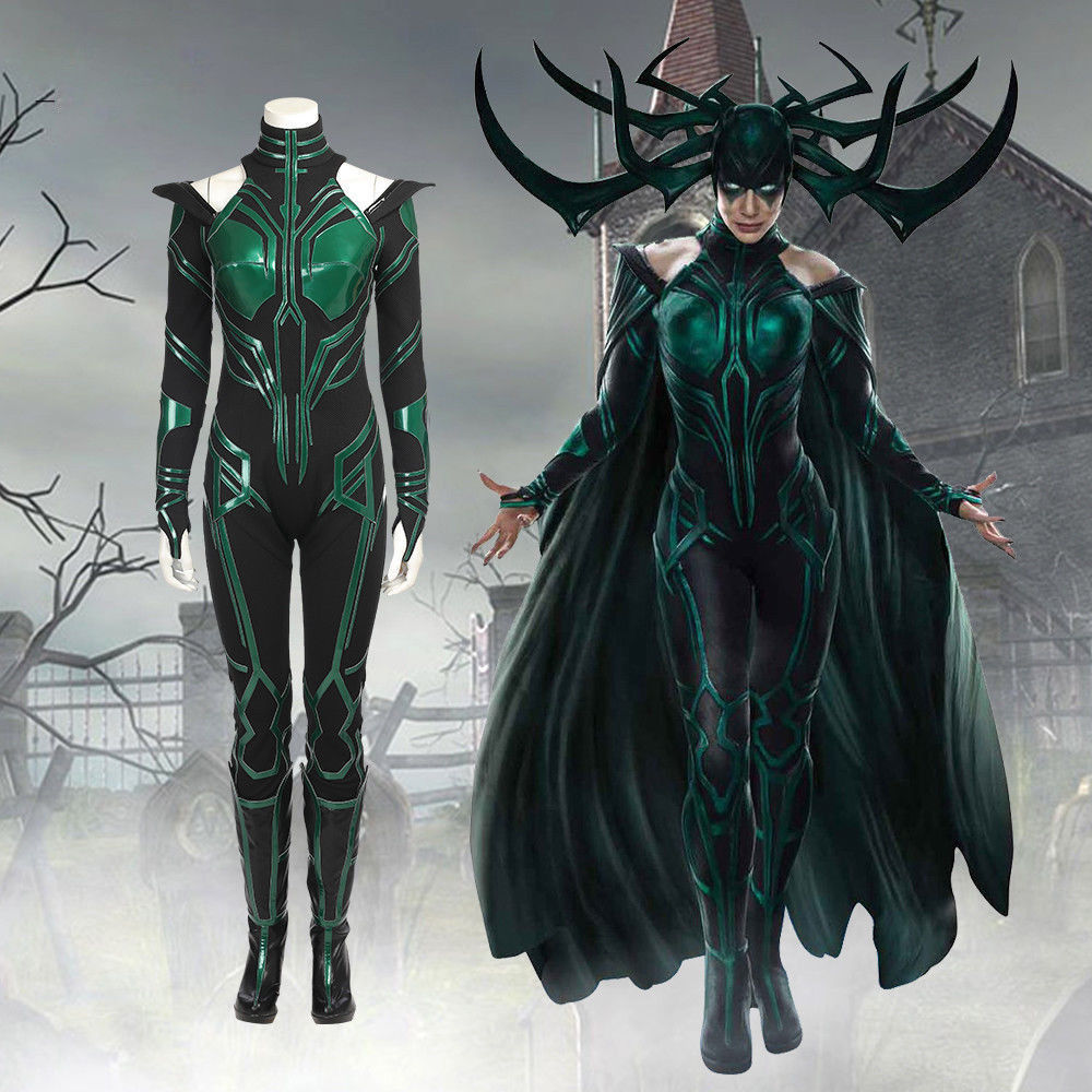Halloween Thor Ragnarok Hela Cosplay Costume Outfit ...