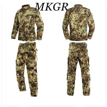Tactical US Army Camouflage Combat Uniform Men ACU Multicam Camo Military Clothing Set Airsoft Outdoor Jacket + Pants Multicam стоимость