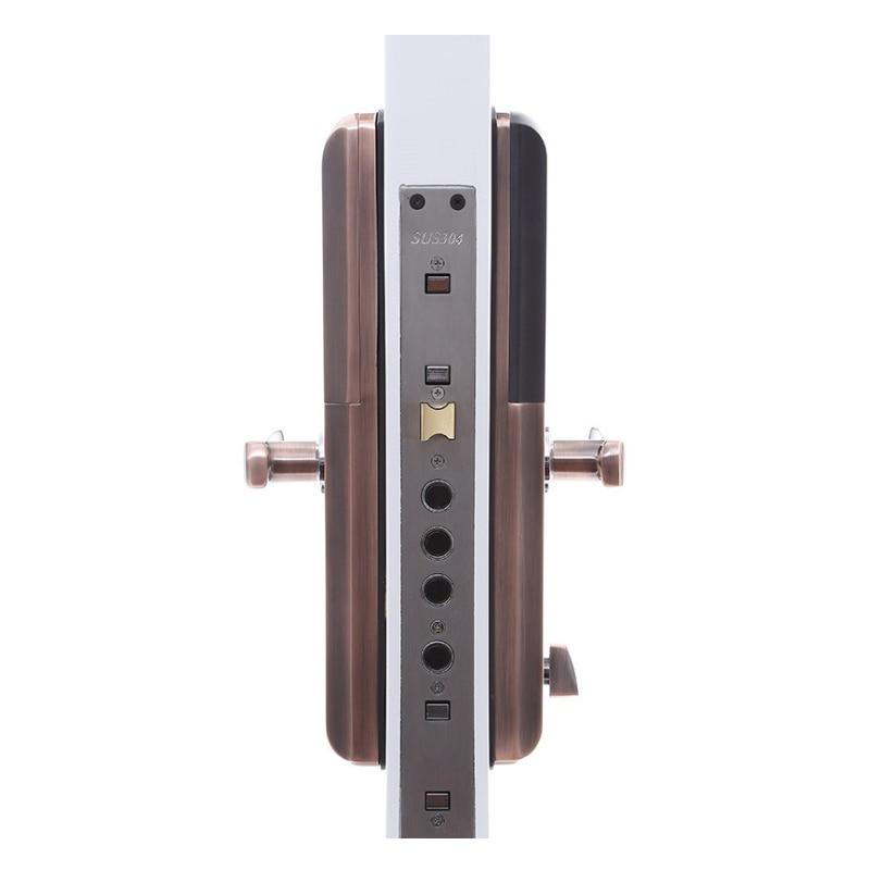 Curseur poignée serrure serrures électroniques Smart cylindre porte Lockset entrée porte intelligente serrure empreinte digitale mot de passe clés Smart