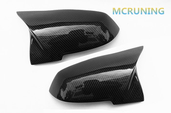 For 1 2 3 4 Series F20 F22 F30 F35 F32 F34 Look Carbon Fiber Rear View Mirror Cover & Gloss Carbon 2012-2016