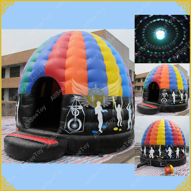 Hot Selling Attractive Inflatable Disco Dome ,Inflatable Bounce House with led light,Outdoor Music Dome Bouncer for Events