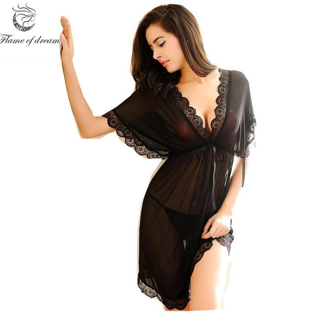 Shirt sleep nightgowns Sleepwear nightdress Women s sexy sleepwear sexy women s  nightgown women sleep wear sets with g string 2070e0ce4