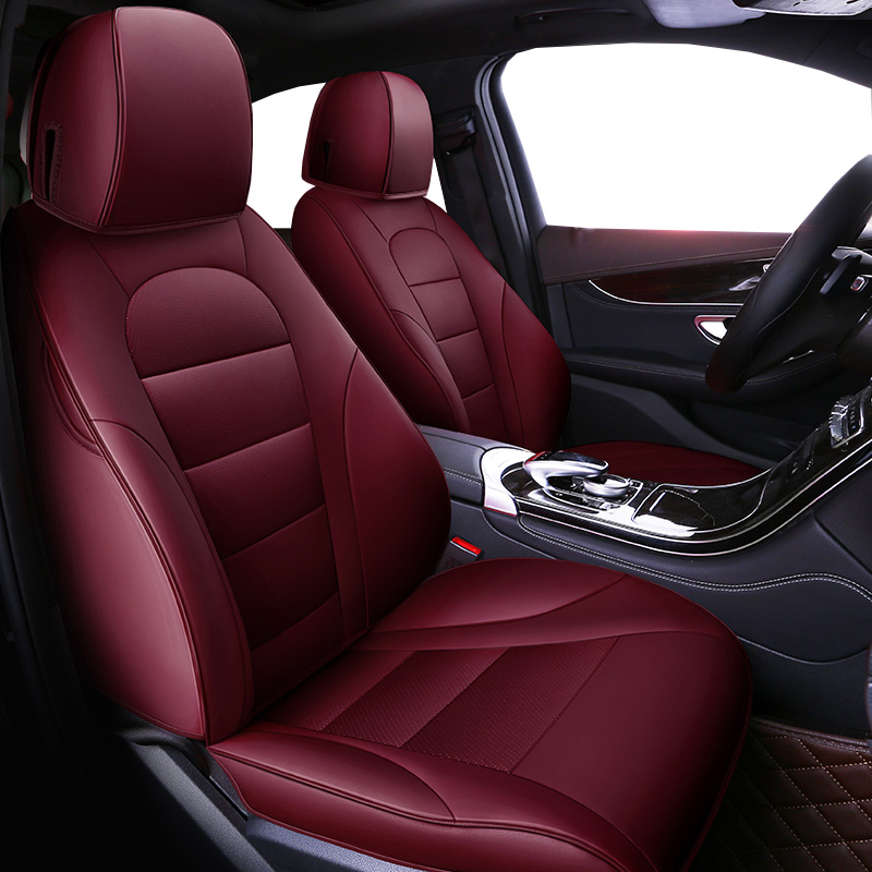 Auto Universal Cowhide leather seat cover For Volkswagen vw passat b5 b6 b7 polo 4 5