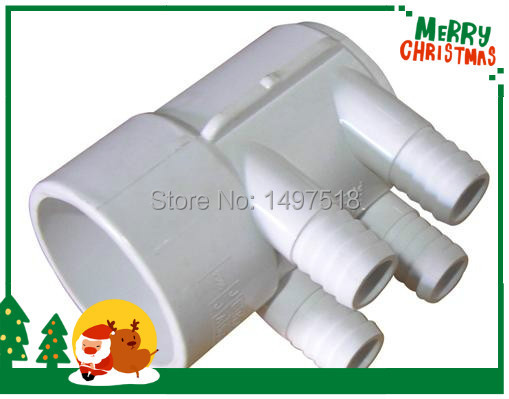 PVC Water pumbing Manifold 2S x 2 S with 4 pcs 3/4 Ports with dead end , 2 PVC Manifold with 4 port for,Spa Hot tub earth 2 world s end vol 2